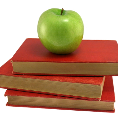 apple and books school