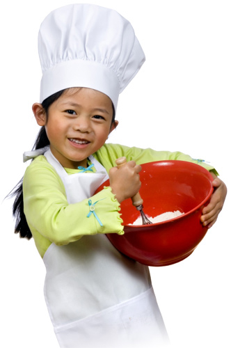 child cooking