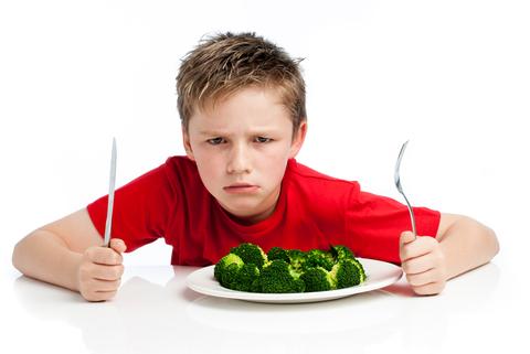 Picky eater boy