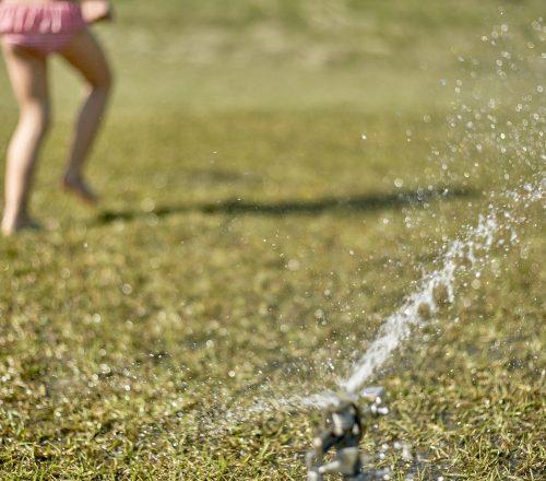 sprinkler child