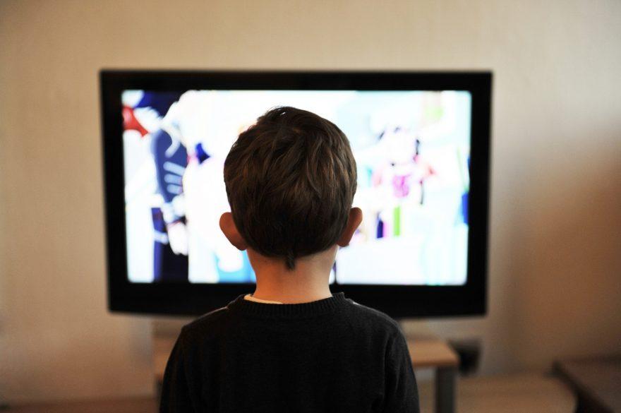 Boy watching screen